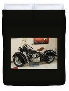 Black Indian Motorcycle Duvet Cover