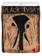 Black Ivory Issue 1 Woodcut Duvet Cover