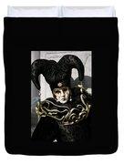 Black Jester Duvet Cover
