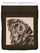 Black Lab Aint No Cure For Love Duvet Cover
