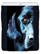 Black Labrador Retriever Dog Art - Hunter Duvet Cover by Sharon Cummings