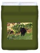 Black Labrador Retriever Puppy Duvet Cover