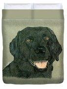 Black Labrador Retriever Duvet Cover