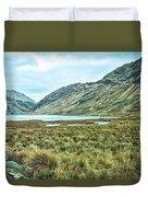 Black Lake  Duvet Cover
