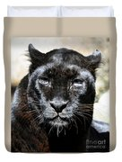 Black Leopard Duvet Cover