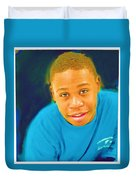 Young Black Male Teen 5 Duvet Cover
