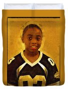 Young Black Male Teen 6 Duvet Cover