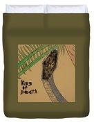 Black Mamba-kiss Of Death Duvet Cover