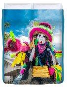 Black Mardi Gras Indian Duvet Cover