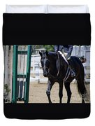 Black Morgan Horse Hunter Jumper Duvet Cover