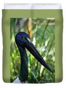 Black Necked Stork 1 Duvet Cover