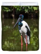 Black-necked Stork Duvet Cover