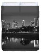 Black Night In Fort Worth Duvet Cover