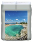 Black Pool, Yellowstone Duvet Cover