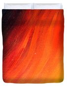 Black-red-yellow Abstract Duvet Cover