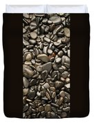 Black River Stones Portrait Duvet Cover by Steve Gadomski