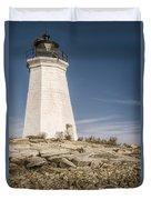 Black Rock Harbor Lighthouse II Duvet Cover