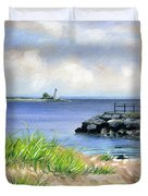 Black Rock Duvet Cover