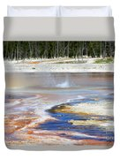 Black Sand Basin Geysers In Yellowstone National Park Duvet Cover