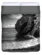 Black Sand Beach Duvet Cover by Break The Silhouette