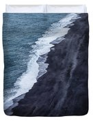 Black Sand Beach, Iceland Duvet Cover