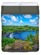 Black Sand Beach - Maui Hi Duvet Cover