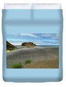 Black Sand Beach On The Lost Coast Duvet Cover
