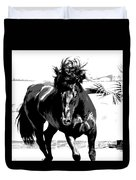 Black Stallion Duvet Cover