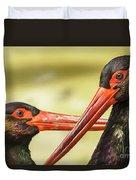 Black Storks Jerez De La Frontera Spain Duvet Cover