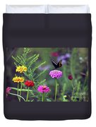 Black Swallowtail Butterfly In August  Duvet Cover