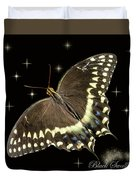Black Swallowtail On Black Duvet Cover