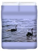 Black Swan Family Duvet Cover