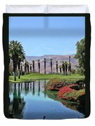 Black Swan In Palm Springs Duvet Cover