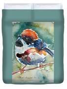 Black- Throated Tit Duvet Cover