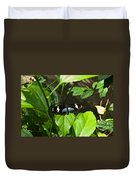 Black Tropical Butterfly Duvet Cover