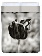 Black Tulip Duvet Cover
