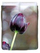 Black Tulip Duvet Cover