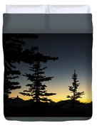 Black Tusk Sunset Duvet Cover