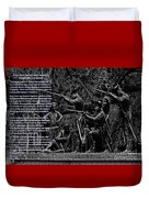 Black When Haitians Were Heroes In America Series Print No. 2 With Text Duvet Cover