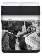 Black White Colorado River  Duvet Cover