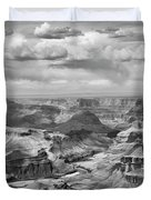 Black White Filter Grand Canyon  Duvet Cover