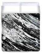 Black White Modern Art Duvet Cover