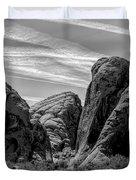 Black White Valley Of Fire  Duvet Cover
