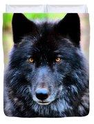 Black Wolf Duvet Cover
