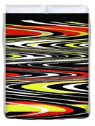Black Yellow Red White Abstract Duvet Cover