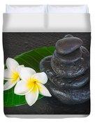 Black Zen Stones Duvet Cover