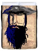 Blackbeard The Pirate Duvet Cover