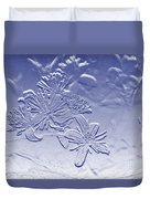 Blackberry Flower In Blue Duvet Cover