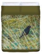Blackbird In The Undergrowth Duvet Cover