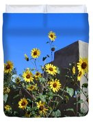 Blackeyed Susans And Adobe Duvet Cover